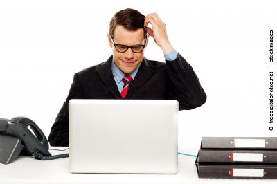 Firmenkunden, B2B -Kunde am Computer