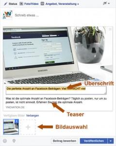 Linkanhänge Facebook anpassen
