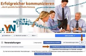 Facebook-Veranstaltung nicht in Chronik posten