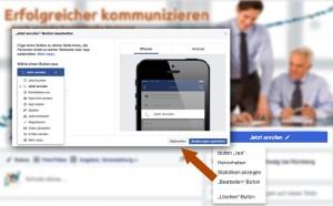"""""""Call to Action""""-Button Facebook"""