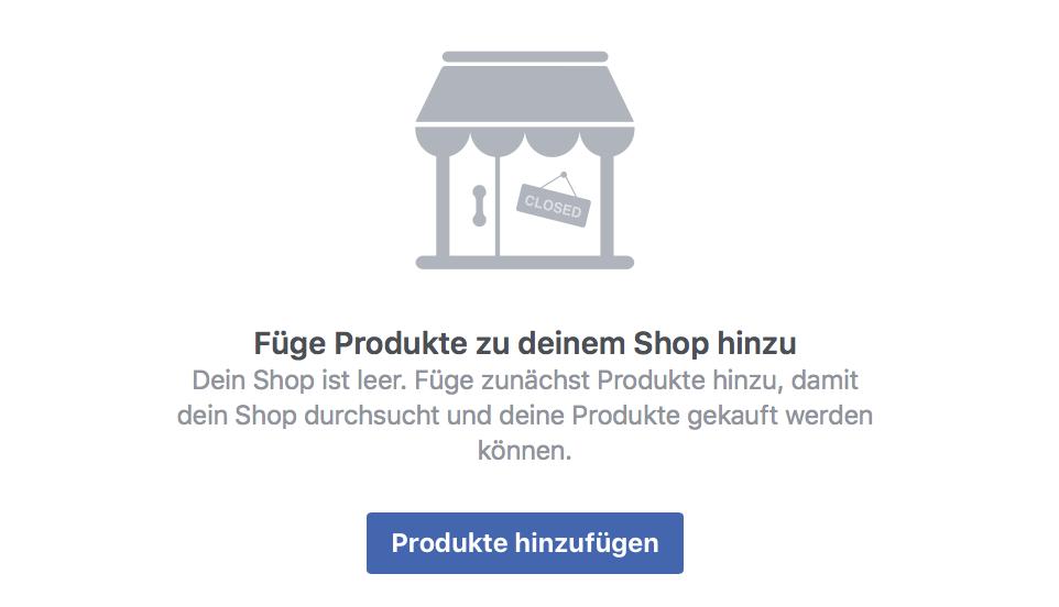 Facebook-Shop Produkte hinzufügen
