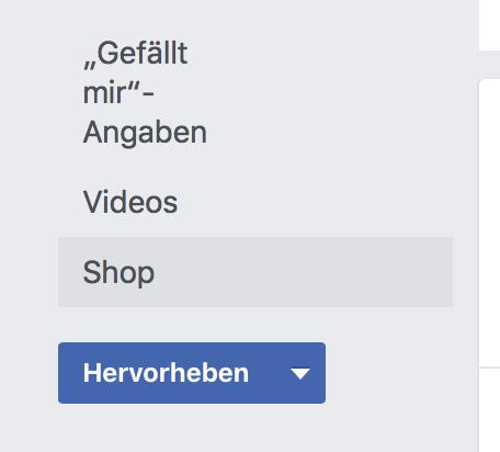 Facebook-Shop Start