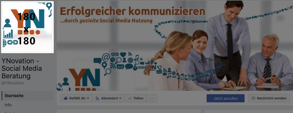 Bildergrößen auf Facebook - Profilbild