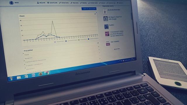 Facebook-Statistiken auf Computer-Bildschirm