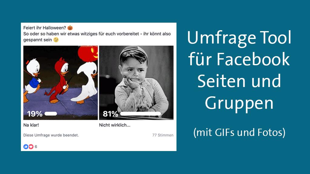 Facebook Umfrage Erstellen