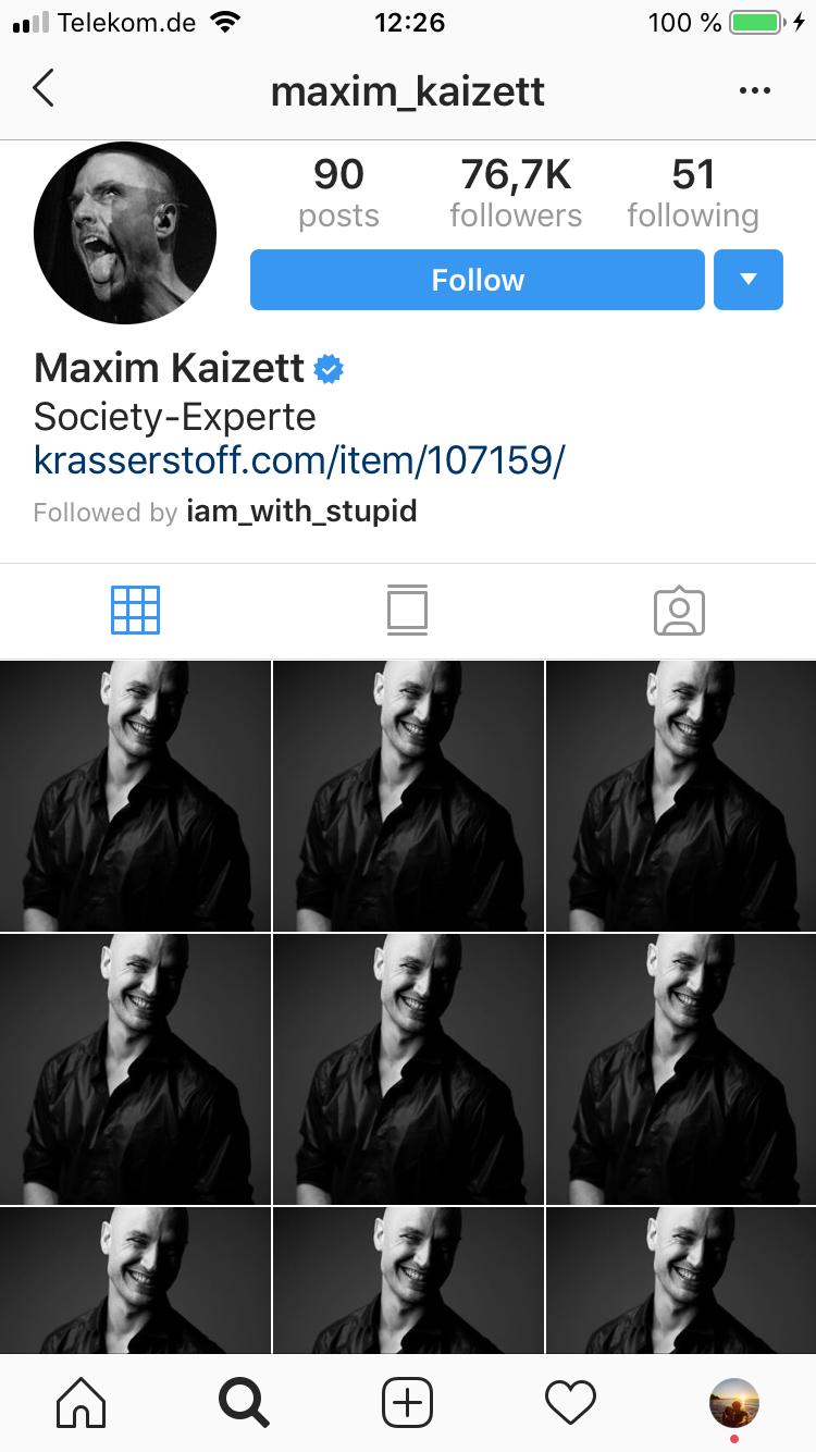 Instagram Profil Beispiel Maxim Kaizett