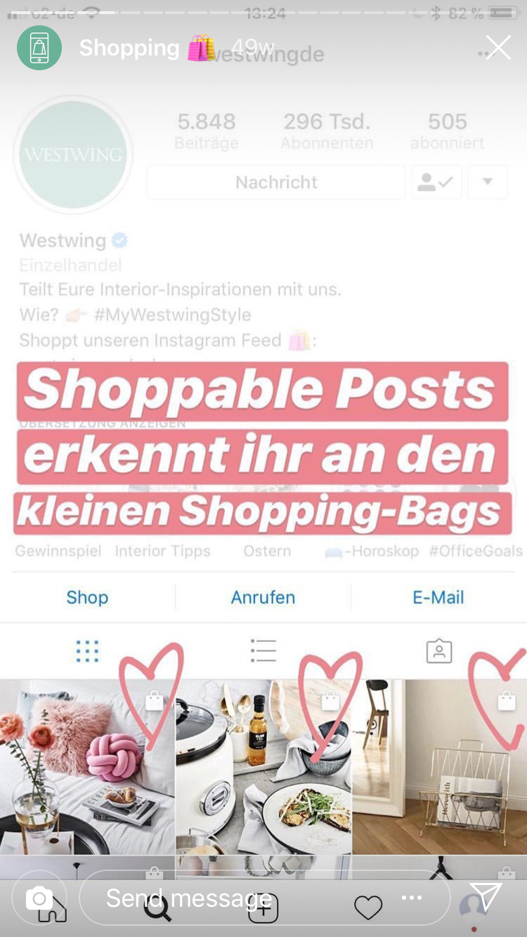 Westwing Shoppable Posts Instagram