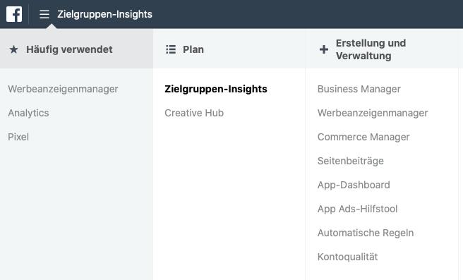 Facebook Zielgruppen-Insights (Fehler bei Facebook Werbung)