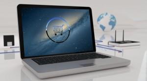 Online-Shop auf Computer