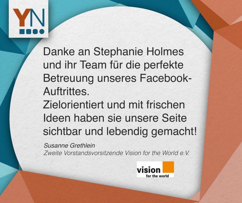 Danke an Stephanie Holmes